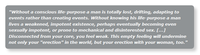 What women want in men: to have a defined life purpose