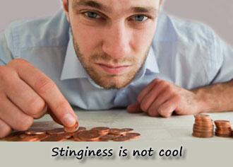 Things Women Dislike: Stinginess